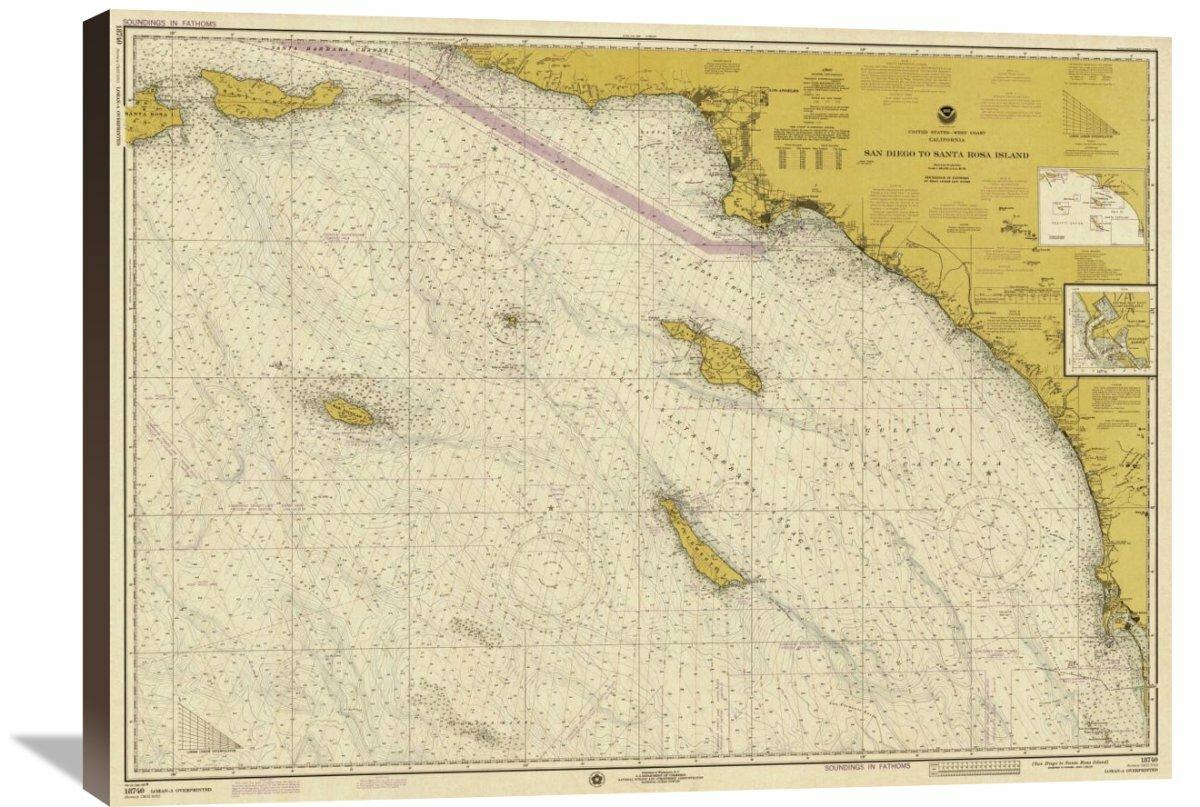 Global Gallery Nautical Chart San Diego To Santa Rosa