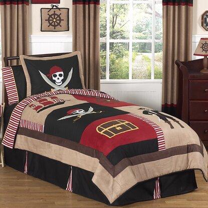 Pirate Treasure Cove 4 Piece Twin Comforter Set