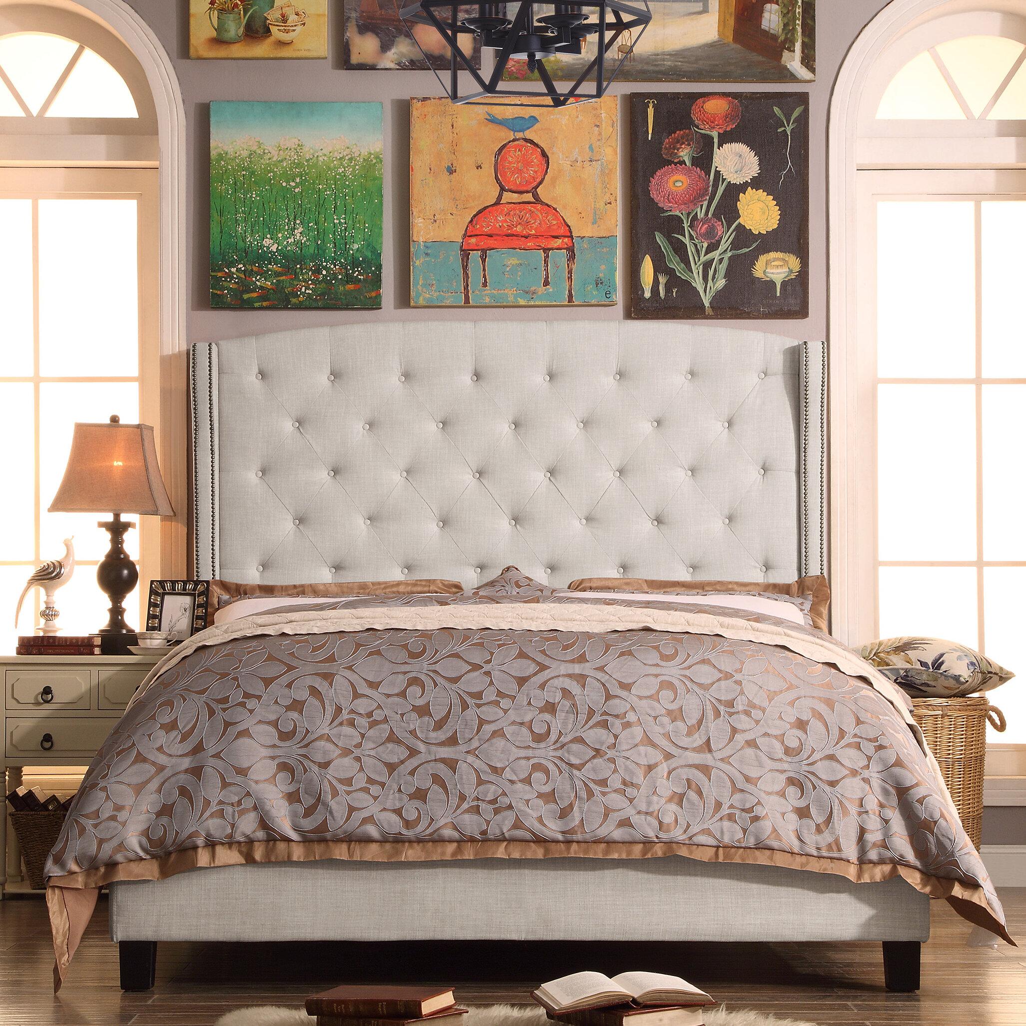 willa arlo interiors destiny upholstered panel bed reviews wayfair