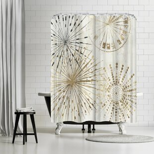PI Creative Art Golden Stars Ii Single Shower Curtain