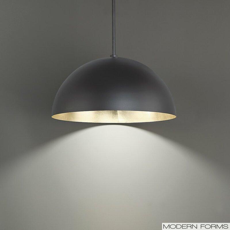 modern forms lighting. Yolo 1-Light LED Pendant Modern Forms Lighting