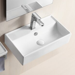 Shop For Ceramic 22 Wall Mount Bathroom Sink with Overflow By Caracalla