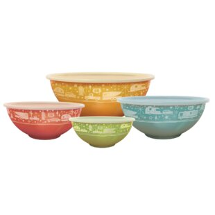 Crossville Melamine 4 Piece Serving Bowl Set