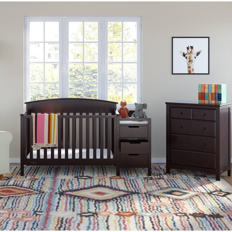 Crib And Changer Combo 2 Piece Nursery
