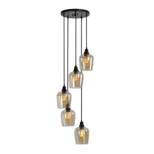 Breakwater Bay Eleanor Cluster 5 -Light LED Glass Pendant