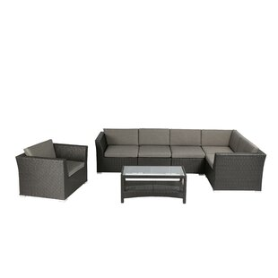 Gutirrez Outdoor Complete 7 Piece Sectional Seating Group with Cushion
