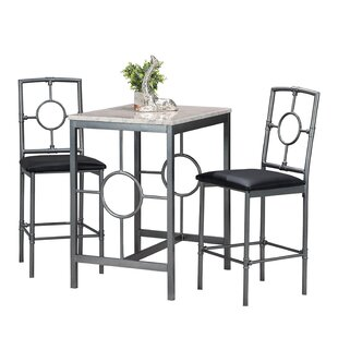 3  Piece Counter Height Dining Set by 17 Stories