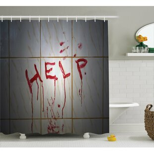 Bloody Help Note in Bathroom Single Shower Curtain
