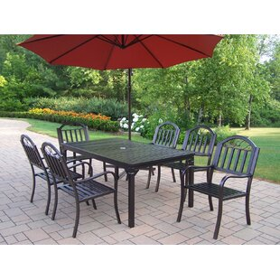 Lisabeth Contemporary 7 Piece Dining Set
