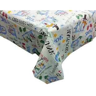 Gentil Seasons Greetings Vinyl Tablecloth With Polyester Flannel Backing