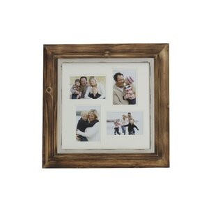 4 opening distressed wood collage frame - Distressed Wood Frames