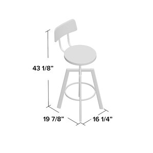 Karly Adjustable Height Bar Stool by 17 Stories