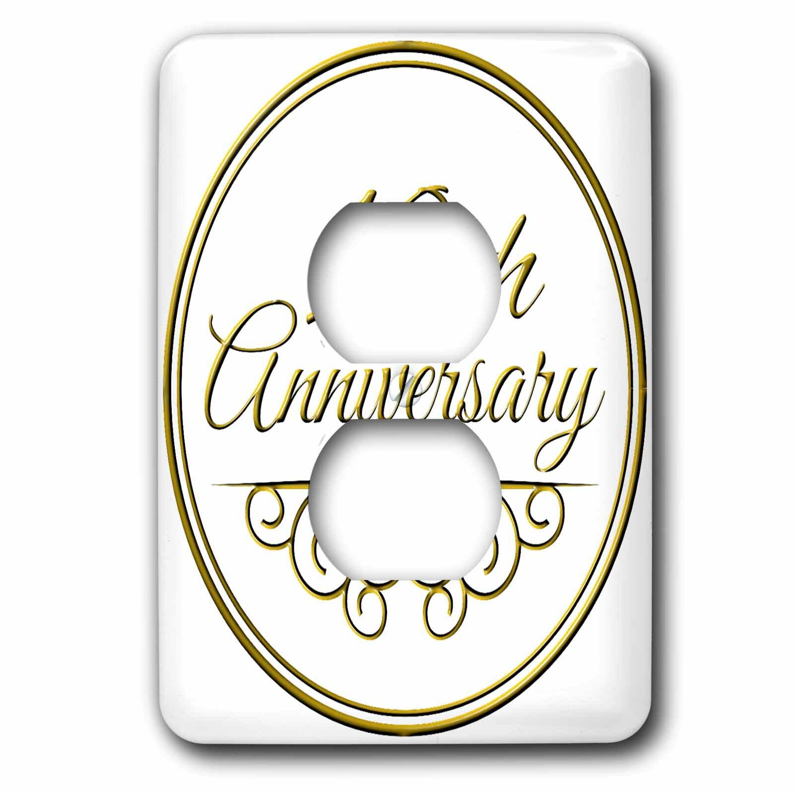 3drose 10th Anniversary Gift 1 Gang Duplex Outlet Wall Plate Wayfair