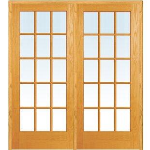 Wood 2-Panel Natural Interior French Door  sc 1 st  Wayfair & French Doors You\u0027ll Love | Wayfair