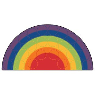 Emerado Rainbow Rows Corner Area Rug