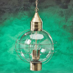 Reviews 600 Series 3-Light Outdoor Hanging Lantern By Brass Traditions