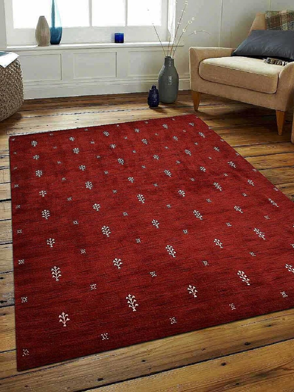 Bloomsbury Market Munoz Hand Knotted Wool Red Area Rug Reviews Wayfair