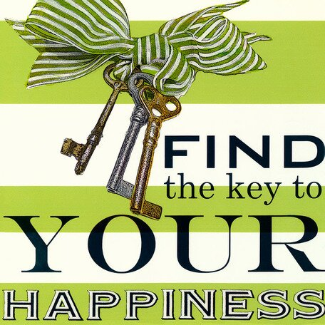 Oopsy Daisy Find The Key To Your Happiness Canvas Art Wayfair
