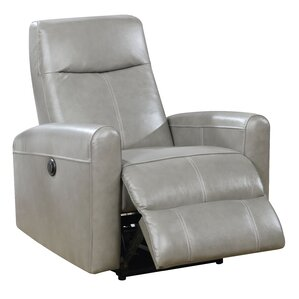 Deines Leather Power Recliner  sc 1 st  Wayfair : recliner chairs electric - islam-shia.org