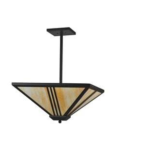 Meyda Tiffany Tres Lineas Mission 4-Light Bowl Pendant