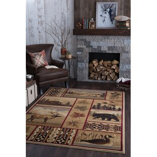 Littlefield Brown Beige Area Rug