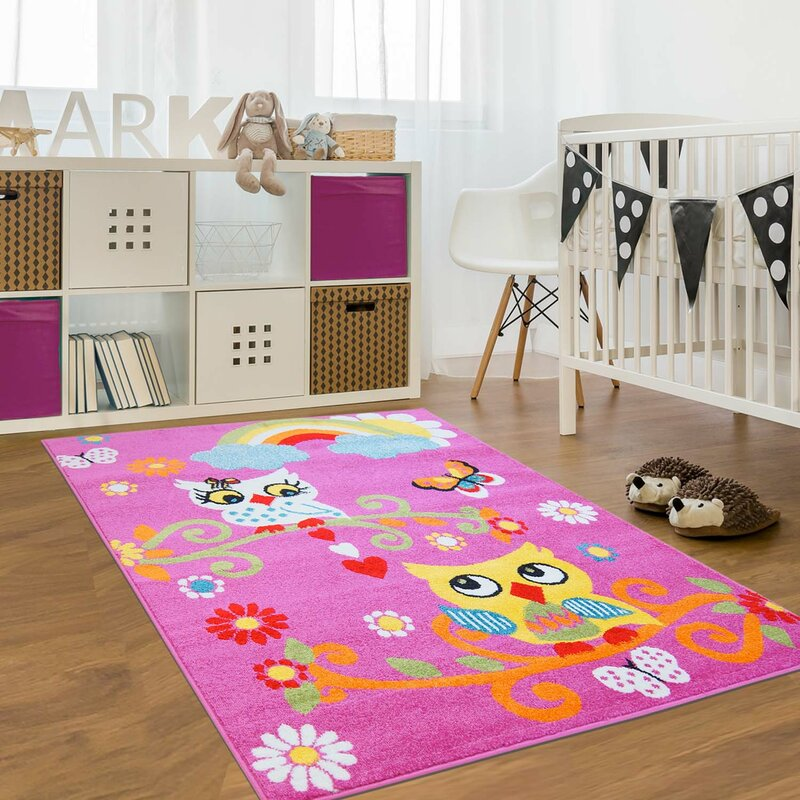 db247266b45 Zoomie Kids Jodie Kids Owl Pink Area Rug   Reviews