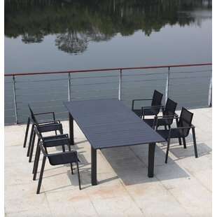 Ingram Outdoor Extendable Aluminum Dining Table by Bayou Breeze