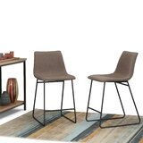 Minner Bar & Counter Stool (Set of 2) by 17 Stories