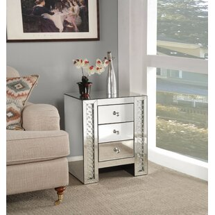 Read Reviews Cochran 3 Drawer Nightstand by Rosdorf Park