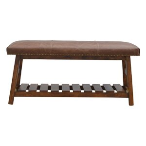 Tys Hallway Leather Dining Bench