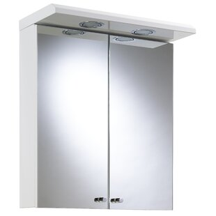Shire 45cm X 53cm Surface Mount Mirror Cabinet With Lighting By Croydex