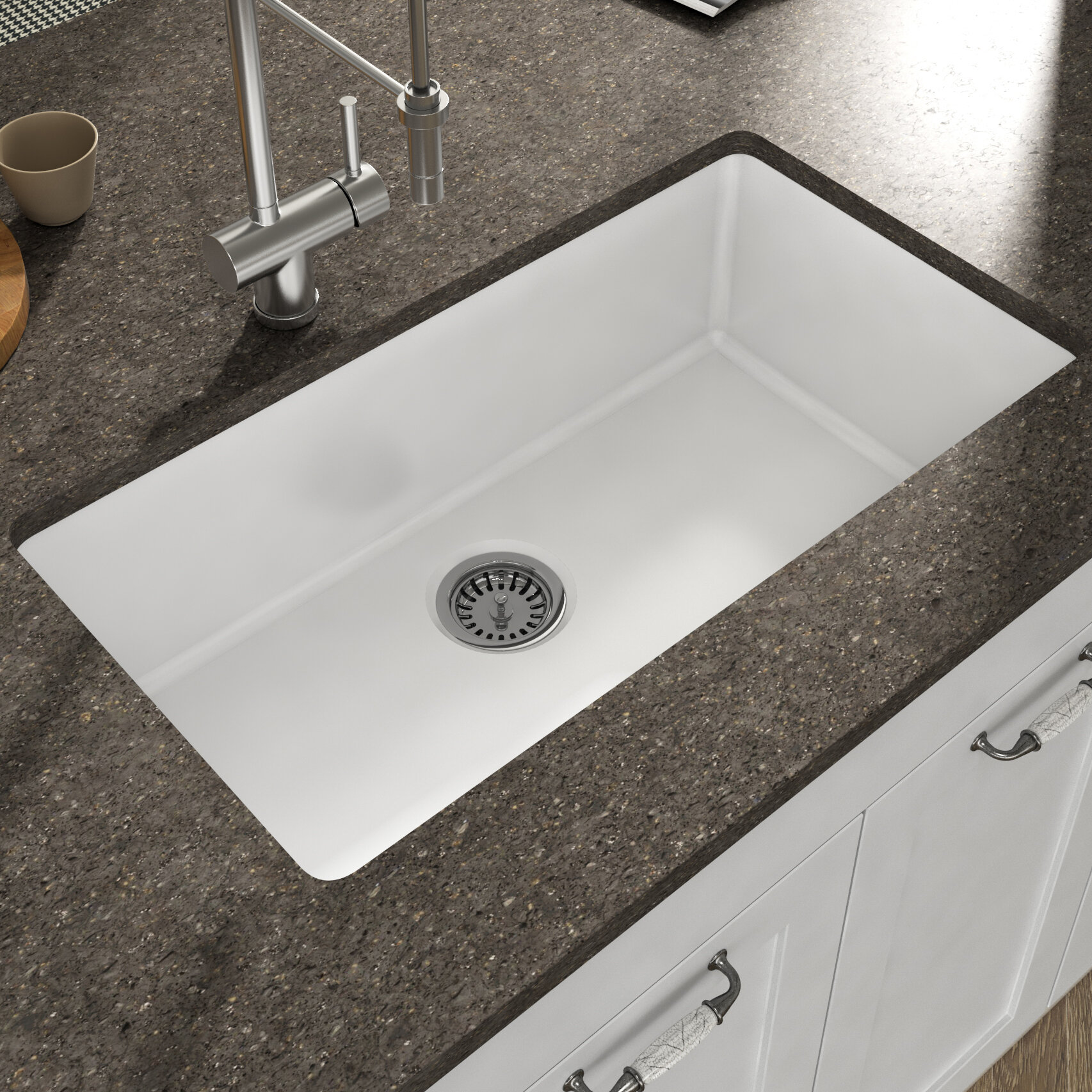 Empire Industries Yorkshire Undermount Fireclay 31 5 L X 18 3 W Farmhouse Kitchen Sink With Grid And Strainer Reviews Wayfair