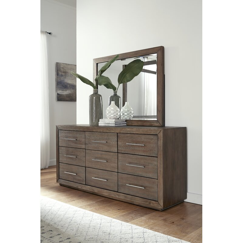 Arruda 9 Drawer Double Dresser With Mirror Reviews Joss Main