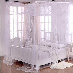 Kaneshiro Crystal Sheer Panel Bed Canopy