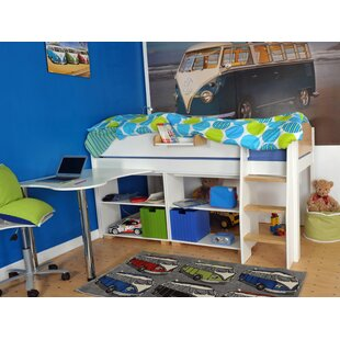 Jodi European Single Mid Sleeper Bed With Drawers And Desk By Zoomie Kids