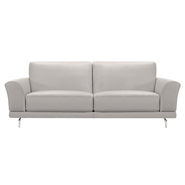 Orren Ellis Randalholme Contemporary Leather Sofa | Wayfair