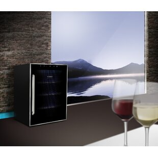 12 Bottle Duett Touch Dual-Zone Freestanding Wine Cooler
