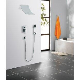 peaceful ideas waterfall showers. Contemporary Modern Waterfall Shower System  Wayfair