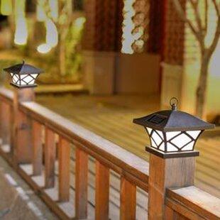 Landscape lighting birch lane solar 1 light fence post caps set of 2 aloadofball Gallery
