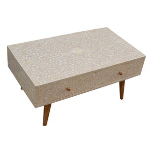 Kukkapalli Solid Wood Coffee Table With Storage By World Menagerie