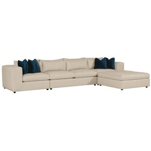 Bernhardt Como Sectional with Ottoman