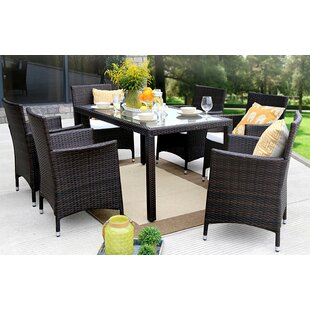 Winston Porter Leidig Outdoor Complete 7 Piece Dining Set