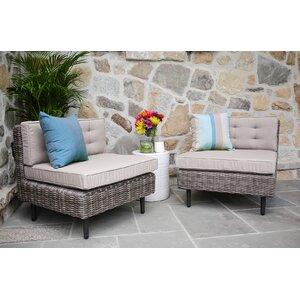 Kenn Armless Chairs with Cushion (Set of 2)