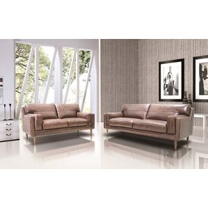 Stokes Leather 2 Piece Living Room Set by Un..