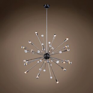 Orren Ellis Magner Starburst 24-Light Chandelier