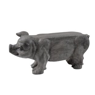 August Grove Stockard Eclectic Pig Bench
