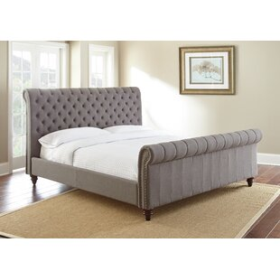Karsten Upholstered Low Profile Sleigh Bed