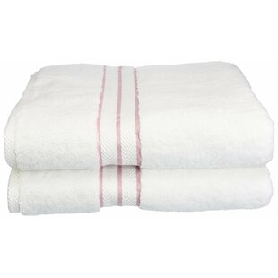 Spates Hotel 100% Cotton Bath Towel (Set of 2)