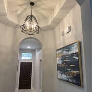 Wrought Studio Destin 5 Light Unique Geometric Chandelier Reviews Wayfair