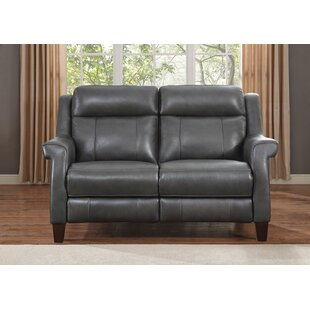 Guyette Leather Reclining Loveseat by Red..